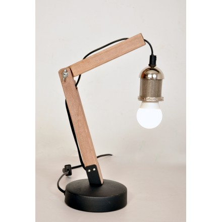Industrial architect HARRY (Silver) table lamp