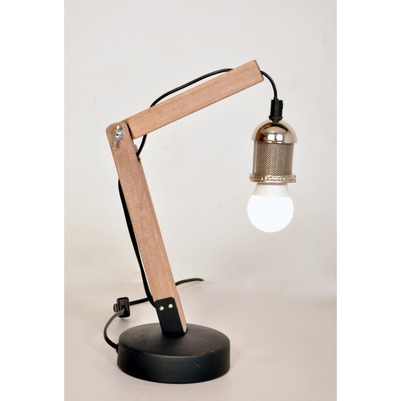 Lampe de table architecte industriel HARRY (argent) - image 40991