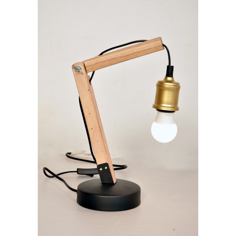 Lampe de table architecte industriel HARRY (laiton)