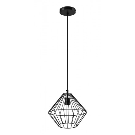 Lampe à suspension industriel H 37 cm Ø 29 cm YOURRY (noir)