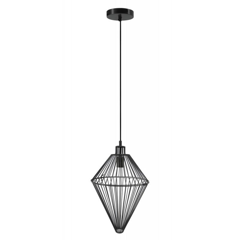 Lampe à suspension industriel H 52 cm Ø 32 cm SACHA (noir) - image 41003