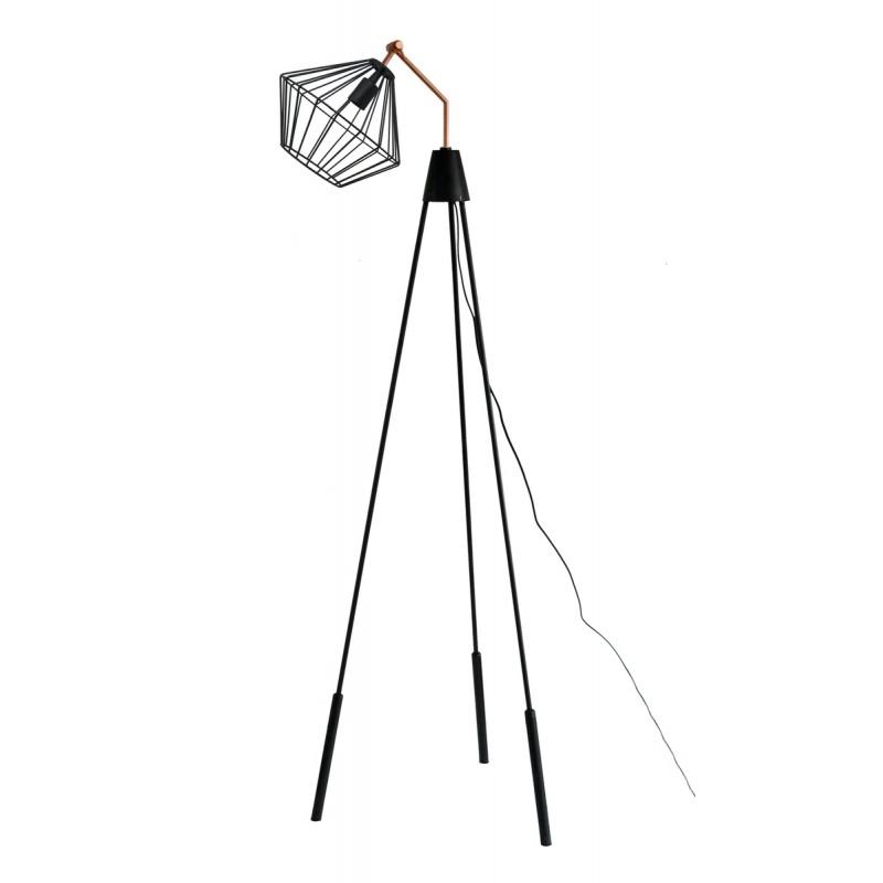 Lampe sur pied industriel ABIGAEL (noir) - image 41006