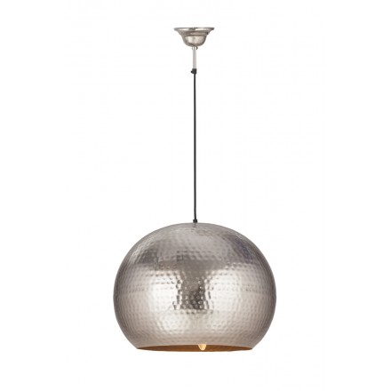 Hanging light industrial factory metal H 52 cm Ø 47 cm SAVANNAH (Silver)