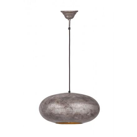 Lampe suspendue industriel en métal H 20 cm Ø 40 cm KIARA (bronze)