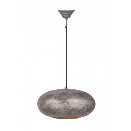 Industrial colgante Lámpara metal H 20 cm Ø 40 cm KIARA (bronce)