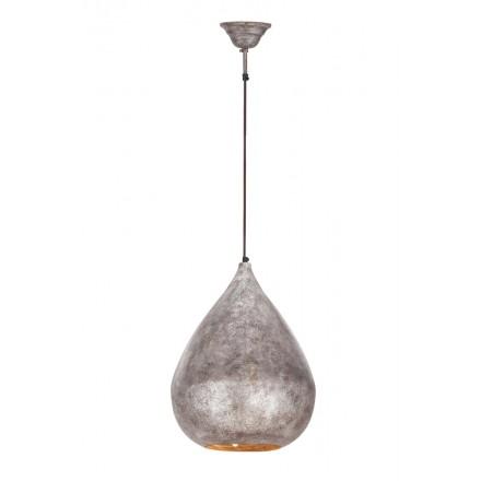 Lampe suspendue industriel en métal H 44 cm Ø 33 cm MERYL (bronze)