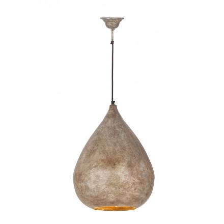 Lampe suspendue industriel H 44 cm Ø 33 cm MERYL (champagne)