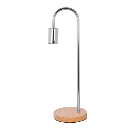 Lampe de table design en métal H 47 cm Ø 15 cm ARIANE (chrome)