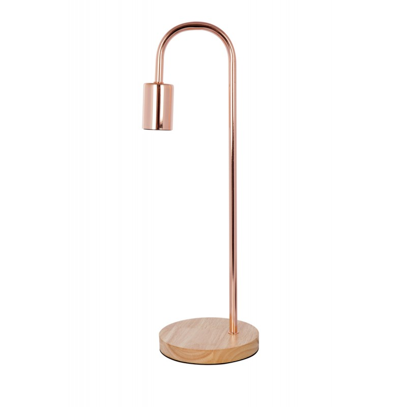 Lampe De Table Design En Metal H 47 Cm O 15 Cm Ariane Cuivre