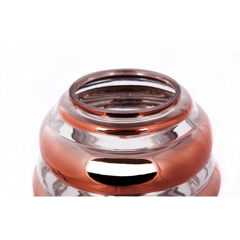 Modern H 29 cm Ø 17 cm ALADDIN glass table lamp (Transparent / copper) - image 41046