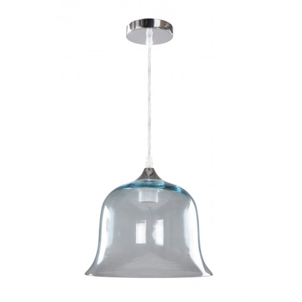 Lampe à suspension design en verre H 24,5 cm Ø 24,5 cm KELLY (bleu)