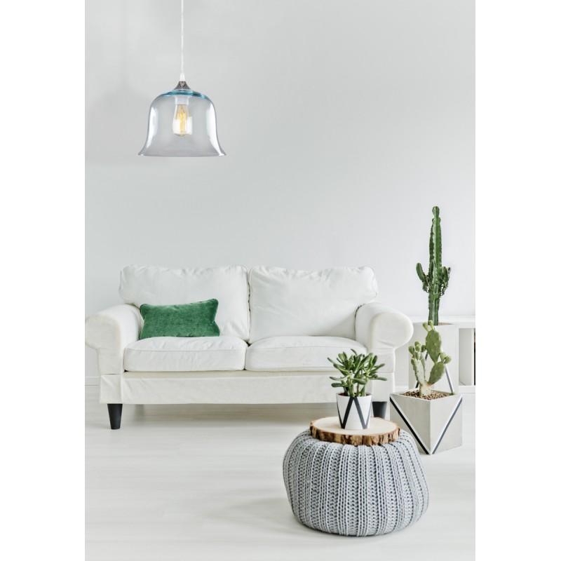 Design hängen H 24,5 cm Ø 24,5 cm Glaslampe KELLY (blau) - image 41060