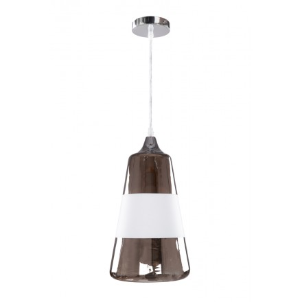 Design hanging H 34 cm Ø 19 cm JODIE (gray) glass lamp