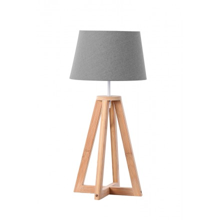 Lamp table design and Scandinavian SUZIE (natural, gray)