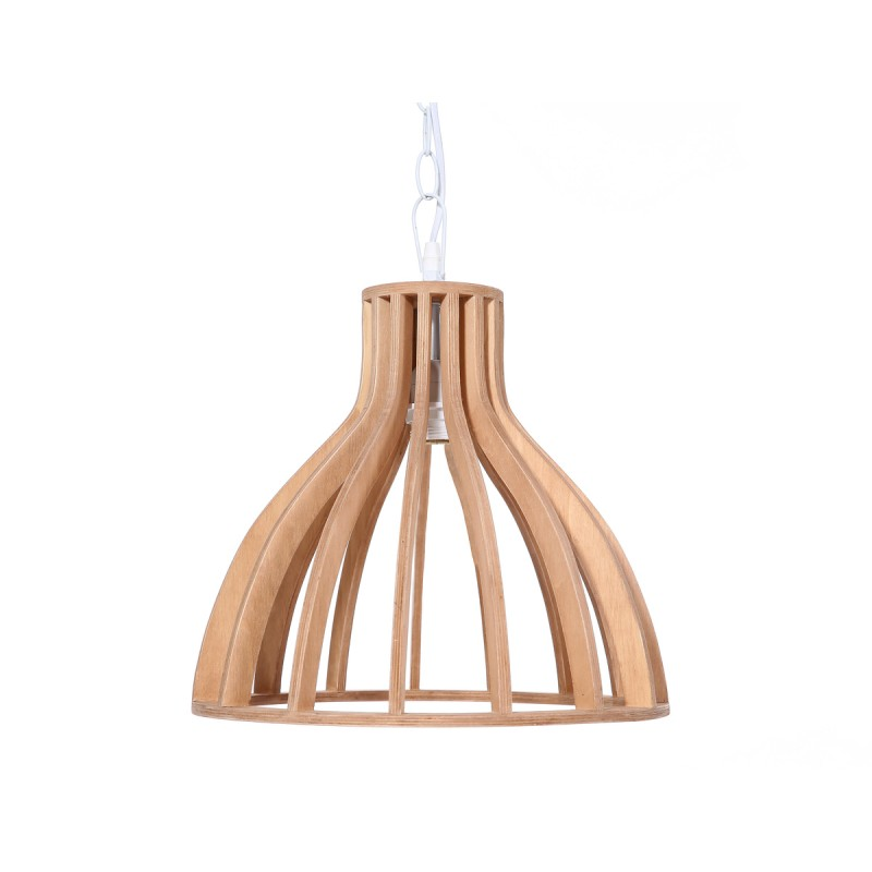 Lampe à suspension scandinave en bois H 38 cm Ø 34 cm TIYA (naturel) - image 41124