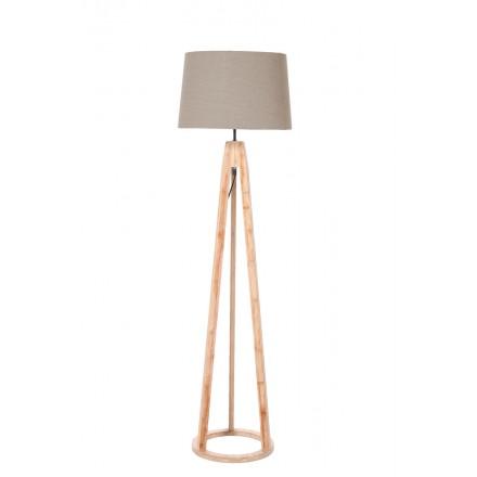 Lampe sur pied scandinave MONA (Naturel, gris)