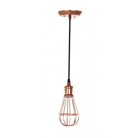 Lampe A Suspension Design En Metal H 23 Cm O 10 Cm Francesca Cuivre