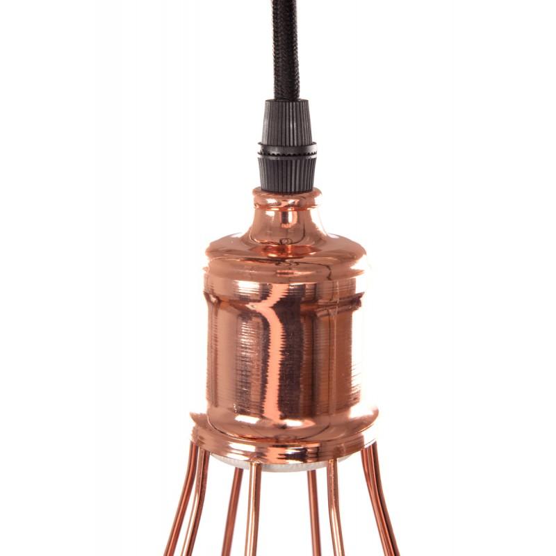 Disegno d'attaccatura H 23 cm Ø 10 cm (rame) lampada in metallo FRANCESCA - image 41142