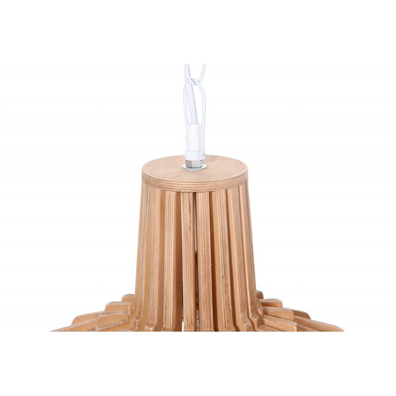 Lampe à suspension scandinave en bois H 39 cm Ø 41 cm TIYA (naturel) - image 41181