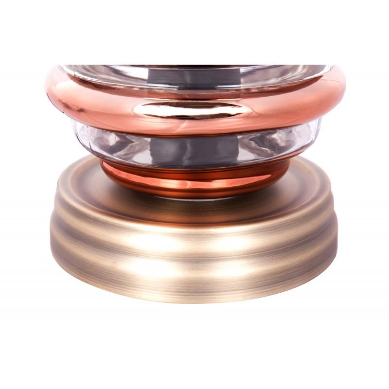 Modern H 29 cm Ø 17 cm ALADDIN glass table lamp (Transparent / copper) - image 41237