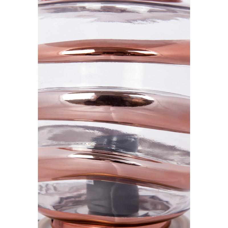 Moderne H 22 cm Ø 20 cm ALADDIN Tischlampe Glas (Transparent / Kupfer) - image 41239