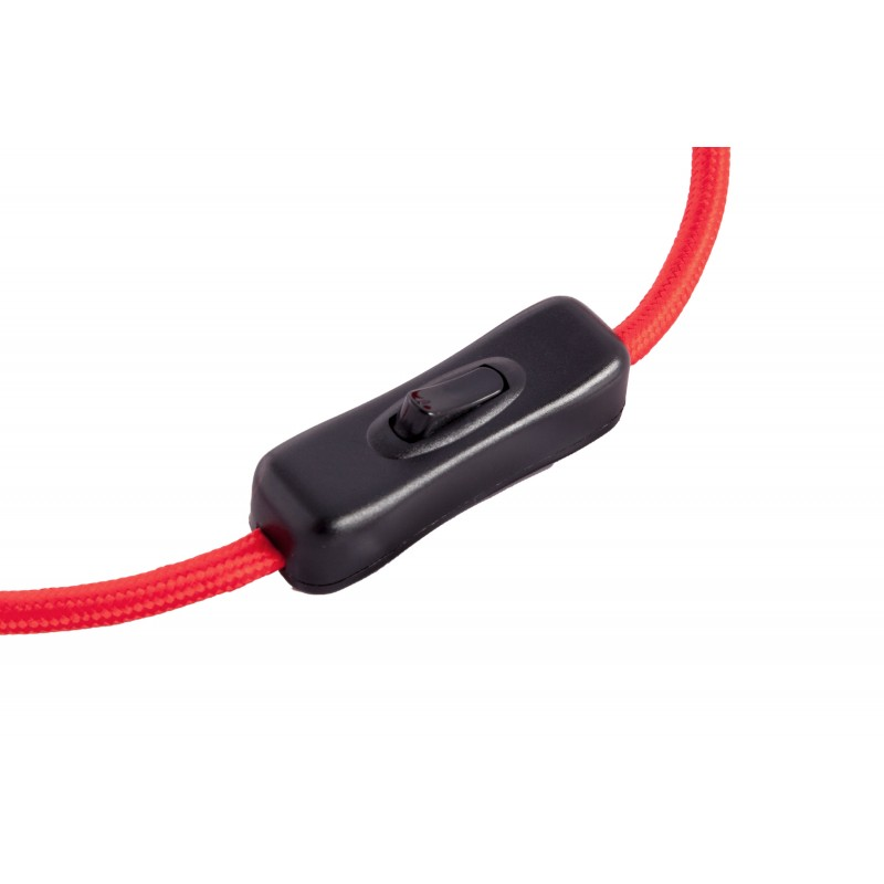 Lámpara de mesa de metal de LAYANA (negro) cable rojo - image 41275