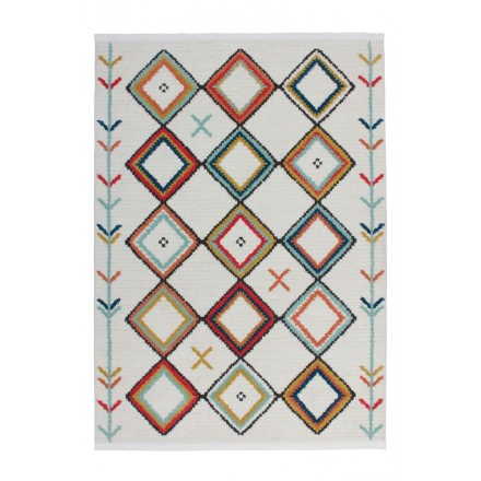 Rectangular MARRAKECH ethnic carpet woven to the machine (multicolor)