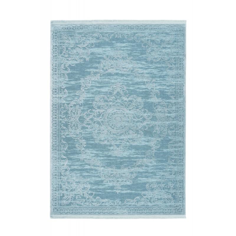 Tapis oriental FURINO rectangulaire tissé à la machine (Bleu turquoise) - image 41317