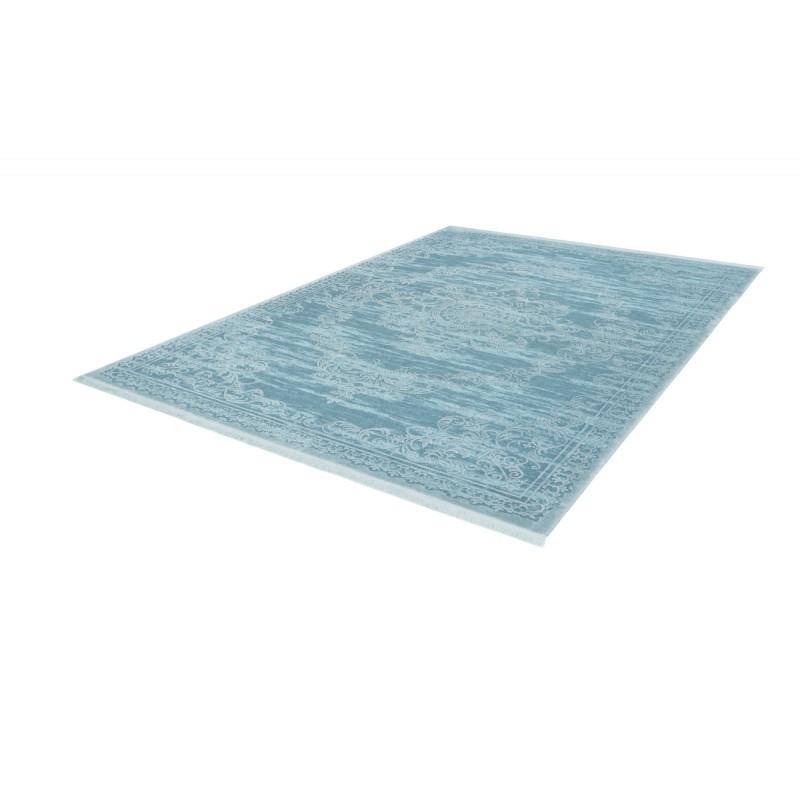 Tapis oriental FURINO rectangulaire tissé à la machine (Bleu turquoise) - image 41319