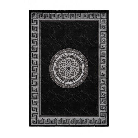 Oriental rug rectangular MEKNES woven machine (black)