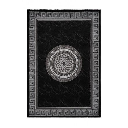 Orientteppich rechteckige MEKNES gewebte Maschine (schwarz)