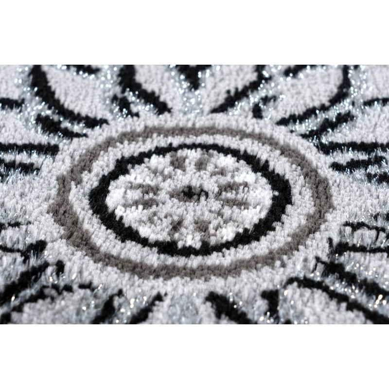 Tapis oriental MEKNES rectangulaire tissé à la machine (Gris) - image 41378