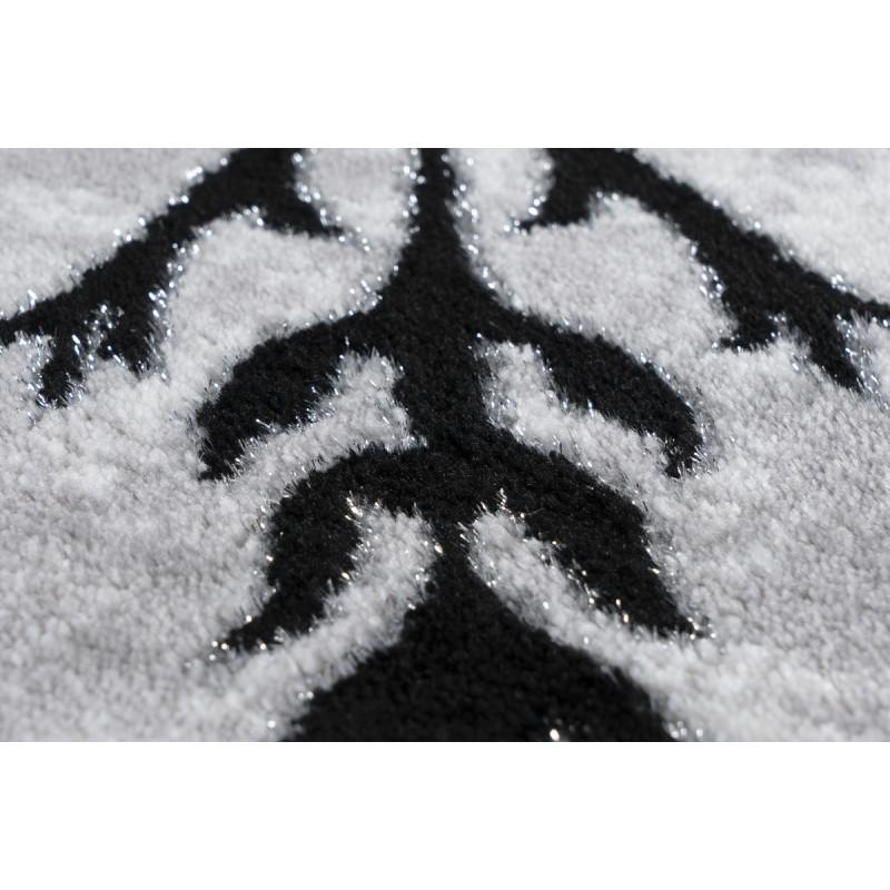 Tapis oriental FES rectangulaire tissé à la machine (Noir) - image 41381