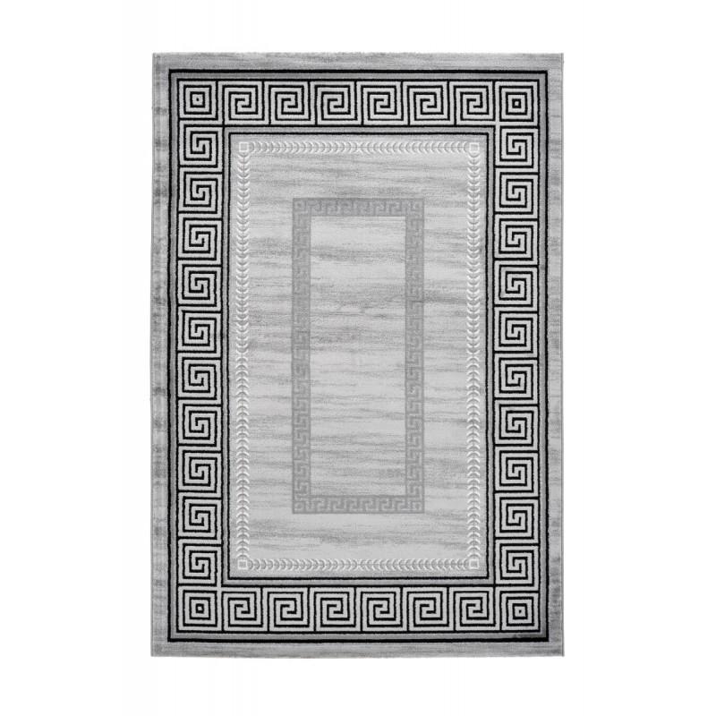 Tapis oriental RABAT rectangulaire tissé à la machine (Gris) - image 41391
