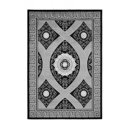 Oriental rug rectangular TETOUAN woven machine (black)