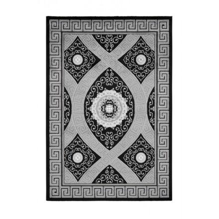 Tapis oriental TETOUAN rectangulaire tissé à la machine (Noir)