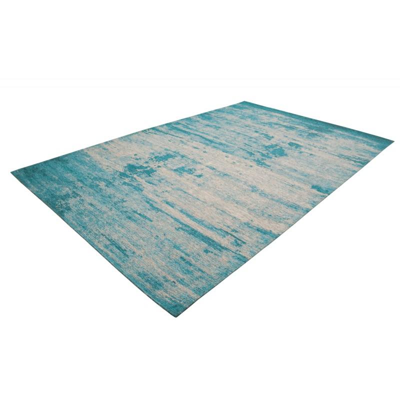 Tapis vintage ROULY rectangulaire tissé à la machine (Bleu turquoise) - image 41418