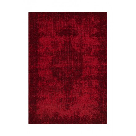 Vintage alfombra ROULY rectangular tejido a máquina (Burdeos)