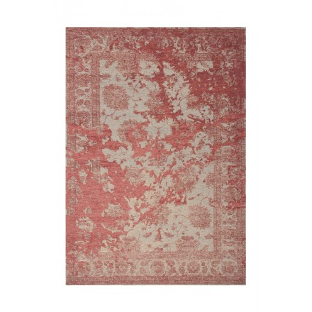 Vintage rectangular PORTLAND carpet woven to the machine (red)