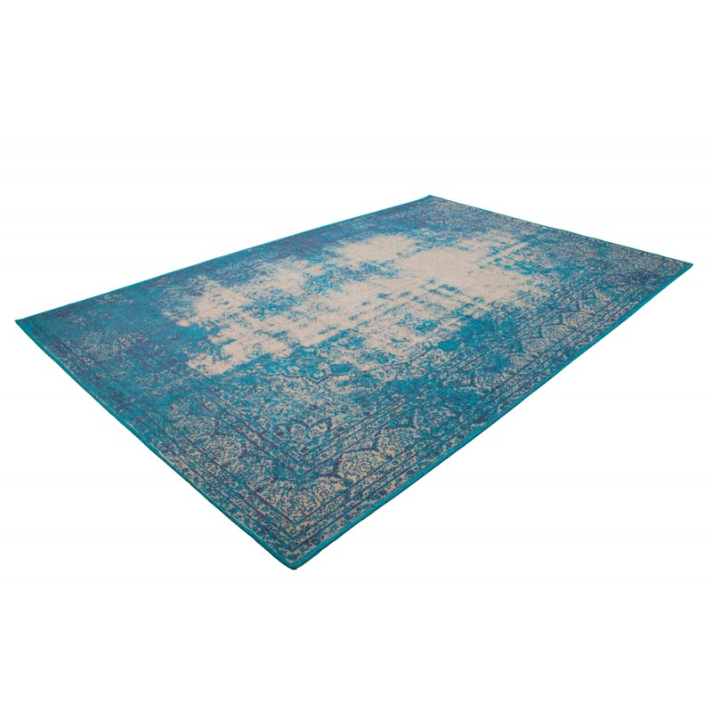 Tapis vintage PORTLAND rectangulaire tissé à la machine (Bleu turquoise) - image 41438