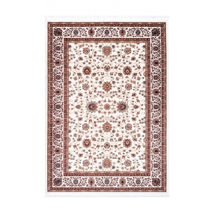 Oriental rug rectangular OUJDA woven machine (cream)