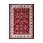 Oriental rug rectangular OUJDA woven machine (red)