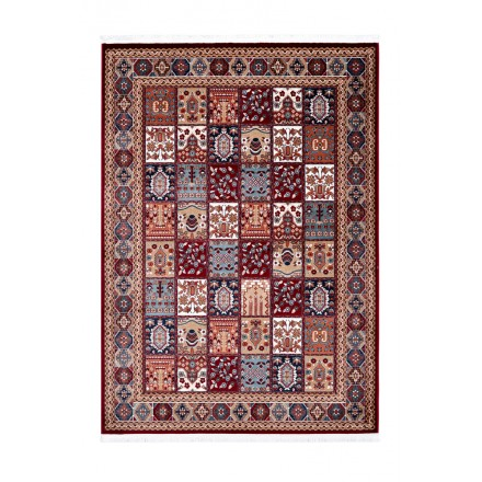 Oriental rug rectangular KENITRA woven machine (Bordeaux)