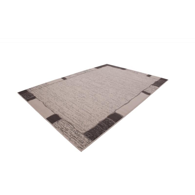 Tapis design et contemporain OKLAHOMA rectangulaire tissé à la machine (Beige ) - image 41474