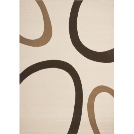 Tapis design et contemporain DALLAS rectangulaire tissé à la machine (Beige )