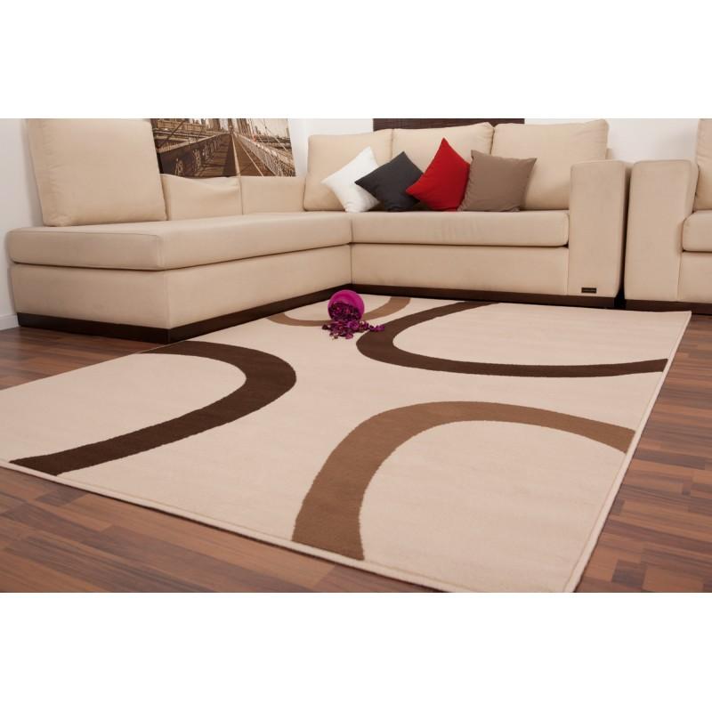 Carpet design and contemporary rectangular DALLAS woven machine (Beige) - image 41480