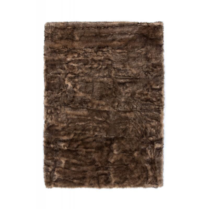 Tapis imitation mouton CHICAGO rectangulaire tufté à la main (Marron) - image 41487