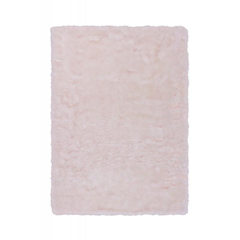 Tapis imitation mouton CHICAGO rectangulaire tufté à la main (Blanc Rosé) - image 41499