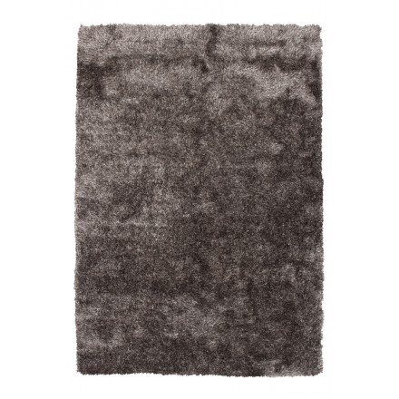 Tapis design et contemporain MIAMI rectangulaire fait main (Gris)