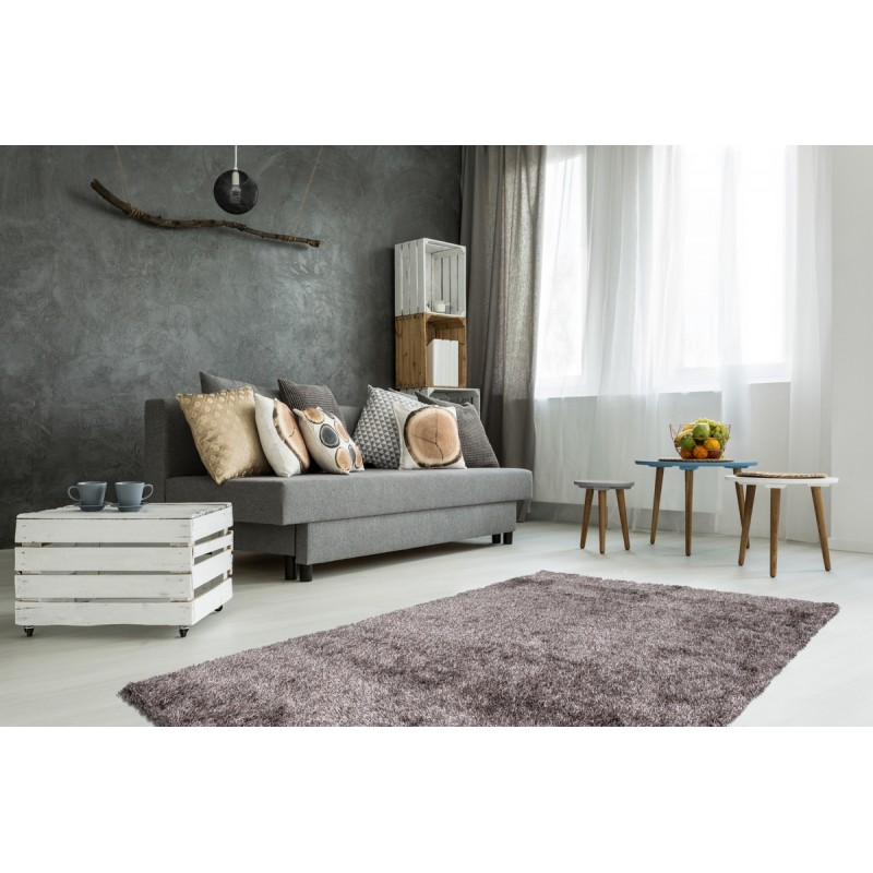 Tapis design et contemporain MIAMI rectangulaire fait main (Gris) - image 41505